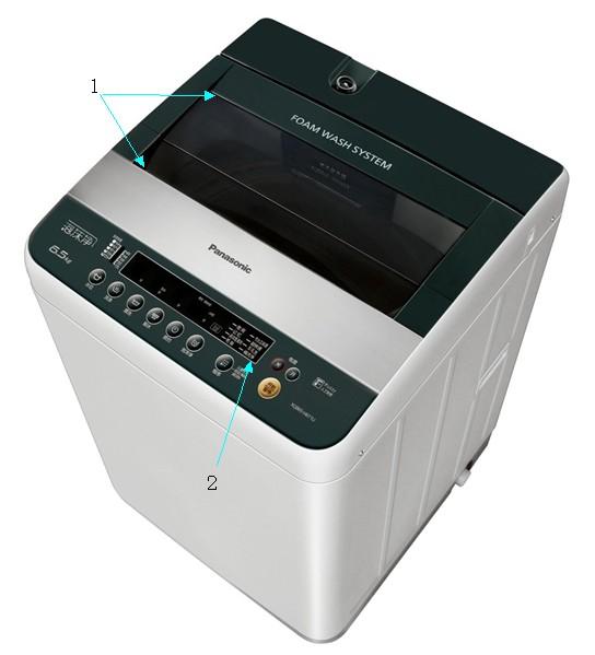 松下洗衣机用胶示意图